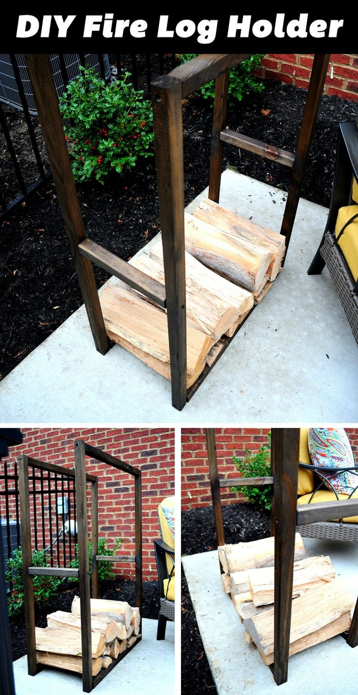 Cute DIY Firewood Storage Idea