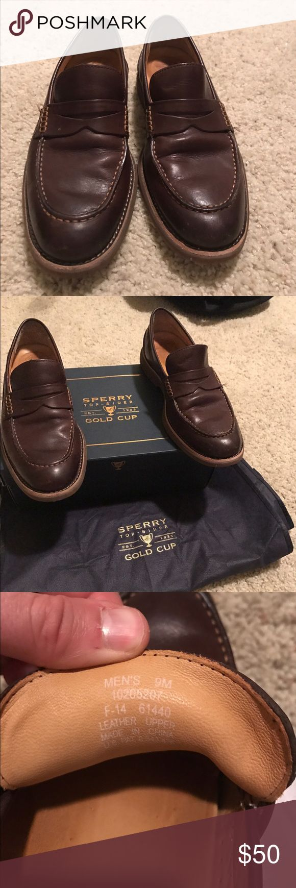 Sperry loafers Chocolate brown Sperry loafers. Great condition. Size 9 Sperry Shoes Loafers & Slip-Ons