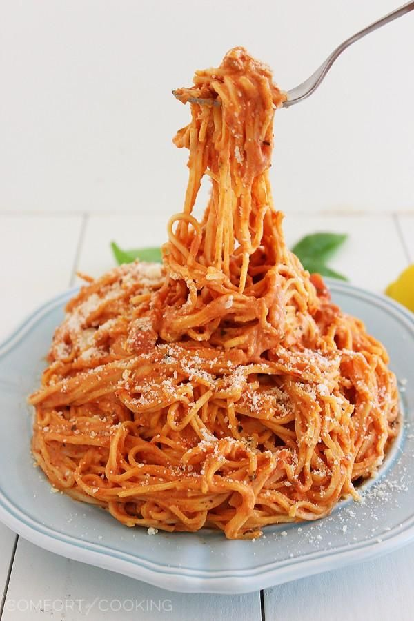 3-Ingredient Creamy Tomato Angel Hair Pasta
