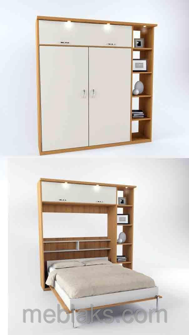 Кровать шкаф трансформер двуспальная, фото 6