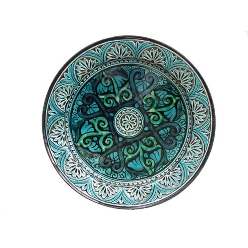 Cot In A Box Morocco Turquoise: Engraved Ceramic (Morocco)