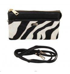 Adax skind taske sort / Zebra 221093