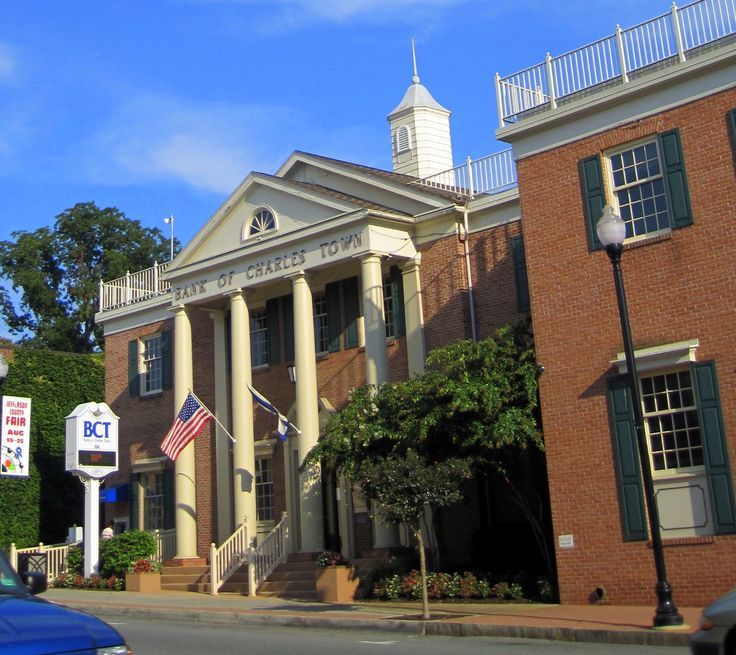 The Bank of Charles Town on Washington Street--the main street thoroughfare. Taken by author Sarah McCoy.