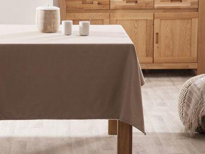 Nappe carrée unie 100% coton enduit traité teflon 140x140cm GARANCE
