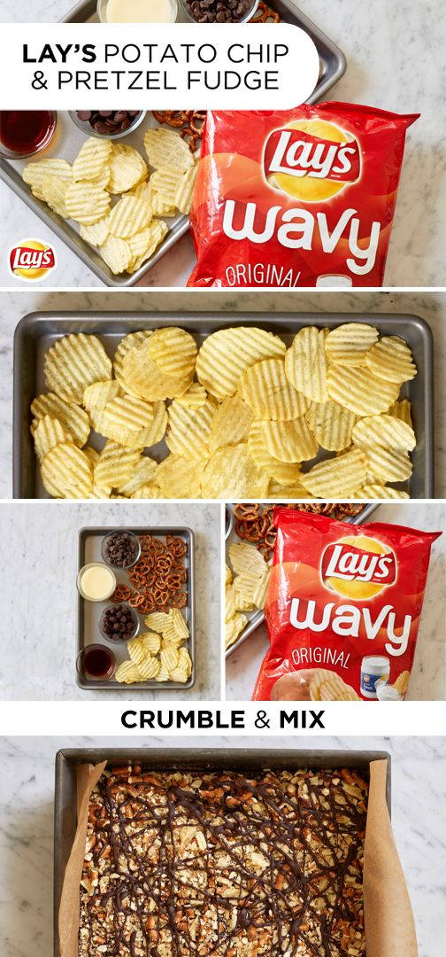 If you've got a Memorial Day party to attend, here's a quick and easy dessert hack that will wow everyone! Simply top rich, chocolatey fudge with tasty snack favorites like crispy LAY'S potato chips and crunchy pretzels. No one will believe this tasty treat took less than ten minutes to make. Click for the full recipe.