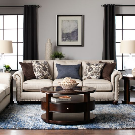 The Inviting Hanson Beige Sofa Set Has A Warm, Romantic Look. The Beige  Fabric. Beige Living Room ... Part 35