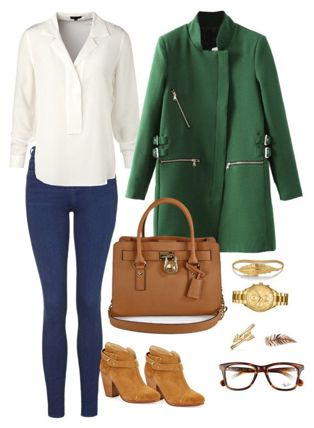 Green friday #greencoat #fashion by la-guerrero on Polyvore featuring polyvore, fashion, style, ESCADA, Topshop, rag & bone, Michael Kors, Lacoste, LeiVanKash, Bling Jewelry, Ray-Ban and clothing