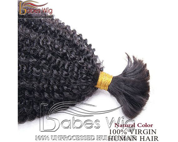 Bulk Human Hair,Brazilian Real Human Hair Bulk Braiding Hair Kinky Curly Hair Braids