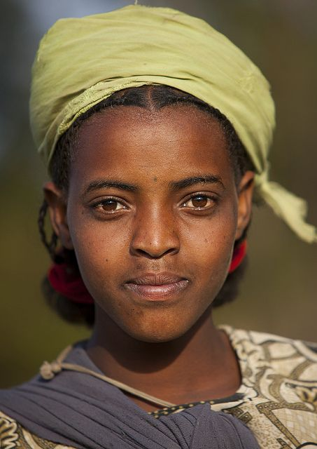 Oromo teenager, Ethiopia   by Eric Lafforgue