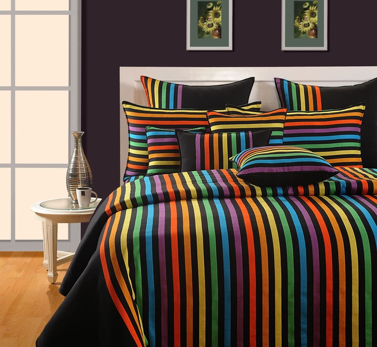 eclectic neon magical linea duvet cover comforter u0026 quilt a variegated combination of mindblowing neon shades in vertical fashion embracing the best of