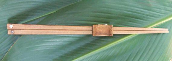 Olive Wood chopstick set with combined holder by ellenisworkshop, $53.00