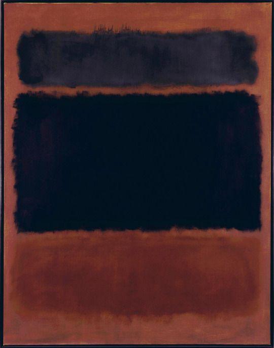 Mark Rothko, Untitled (Black in Deep Red), 1957