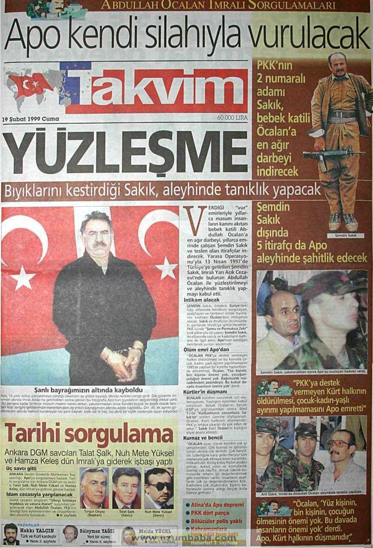 Takvim gazetesi 19 şubat 1999