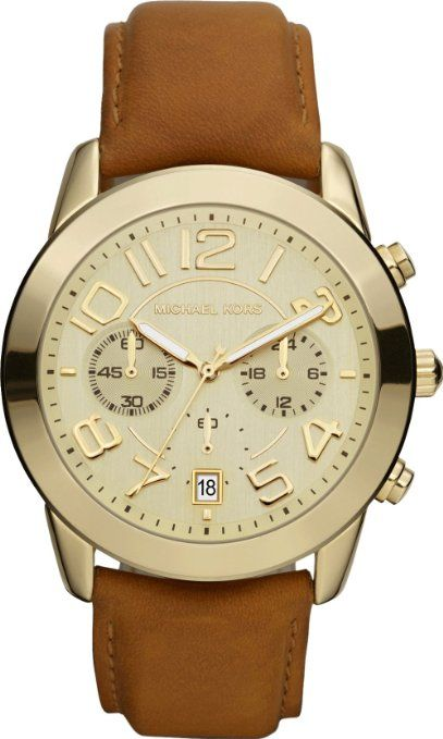 Michael Kors Champagne Dial Brown Leather Ladies Watch MK2251