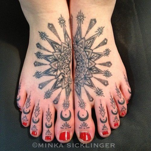 Toe Tattoo by Minka Sicklinger