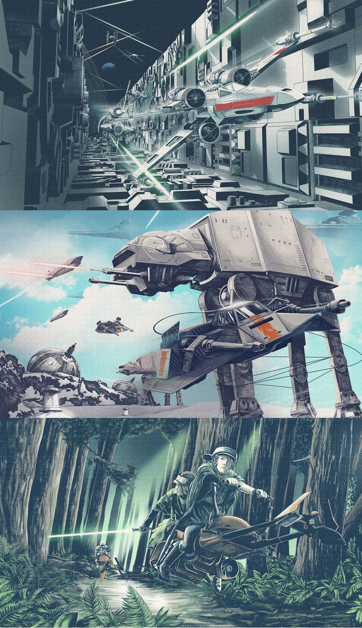 Star Wars illustrations on Behance
