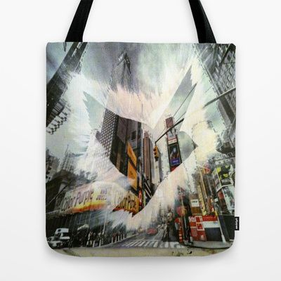 ThePeaceBombs - CityLanding 1 Tote Bag by ThePeaceBomb - $22.00 #thepeacebomb #totebage #madeintheusa #love #words #peace #animal #city