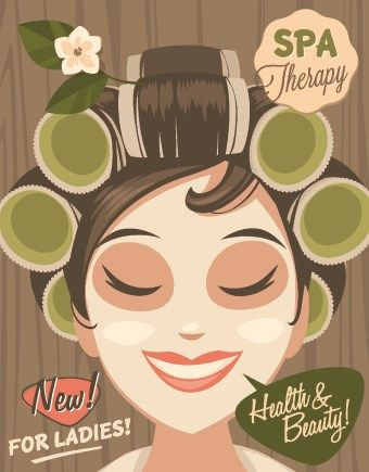 Spa therapy and beauty vector 01