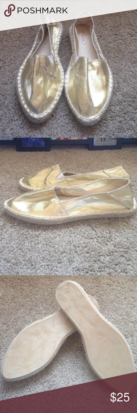 Report Signature Gold Espadrilles Brand new. Super cute gold metallic. Perfect for summer. Size 9. Report Signature Shoes Espadrilles