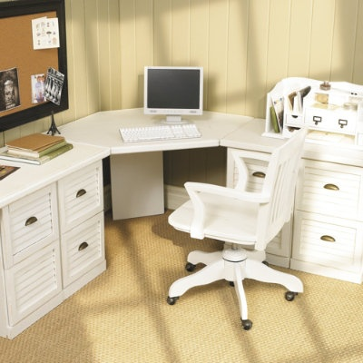 1000 images about corner desk on pinterest built in desk peg boards and offices - Ballard design home office ...