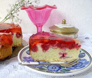 W Mojej Kuchni Lubię.. : łatwe ucierane ciasto z malinami i galaretką...