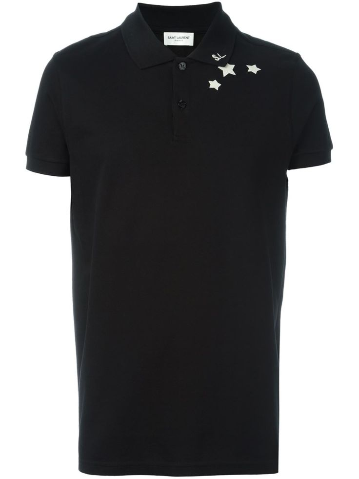 Saint Laurent Camisa polo com estampa