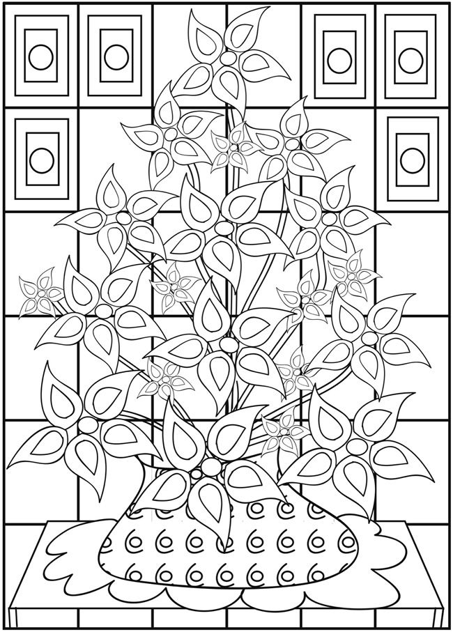 Welcome To Dover Publication Creative Haven Fabulous Flowers Coloring Books