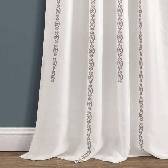 84 X52 Stripe Medallion Room Darkening Window Curtain Set Lush