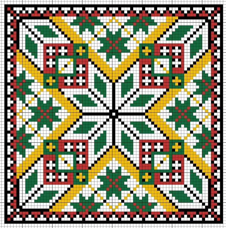 Cross-stitch Biscornu  ... no color chart available, just use pattern chart as your color guide.. or choose your own colors...   Gallery.ru / Фото #21 - Игольницы - TIMOSHAVA