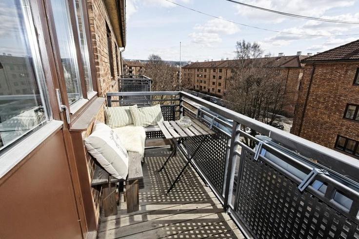 #balcony #sunshine #spring #sitting-outside #interiordesign #Nittedalgata16 #Kampen #Oslo #Norway