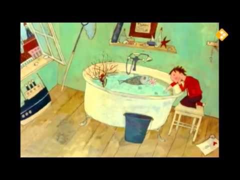 Een vis in bad (digitaal prentenboek) kan GROOT bekeken worden (duurt 3.06 min)