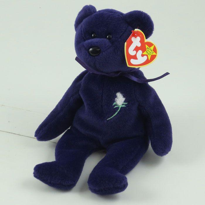 ~~PRINCESS DIANA BEAR (1997 PVC INDONESIA - 1ST VERSION) -TY BEANIE BABY -MWMT'S