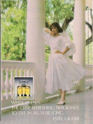 """White Linen"" by Estee Lauder (1978) Created by Sophia Grojsman. A crisp clean long lasting floral-aldehyde."