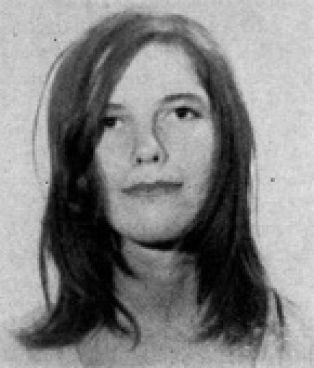 Leslie Van Houten in 1969. Mug shot