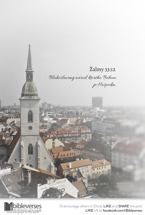 Download at http://ibibleverses.christianpost.com/?p=148205  Blahoslavený národ, ktorého Bohom je Hospodin, ľud, ktorý si on vyvolil za dedičstvo. -Žalmy 33:12  Blessed is the nation whose God is the Lord, the people he chose for his inheritance. -Psalm 33:12  #slovak