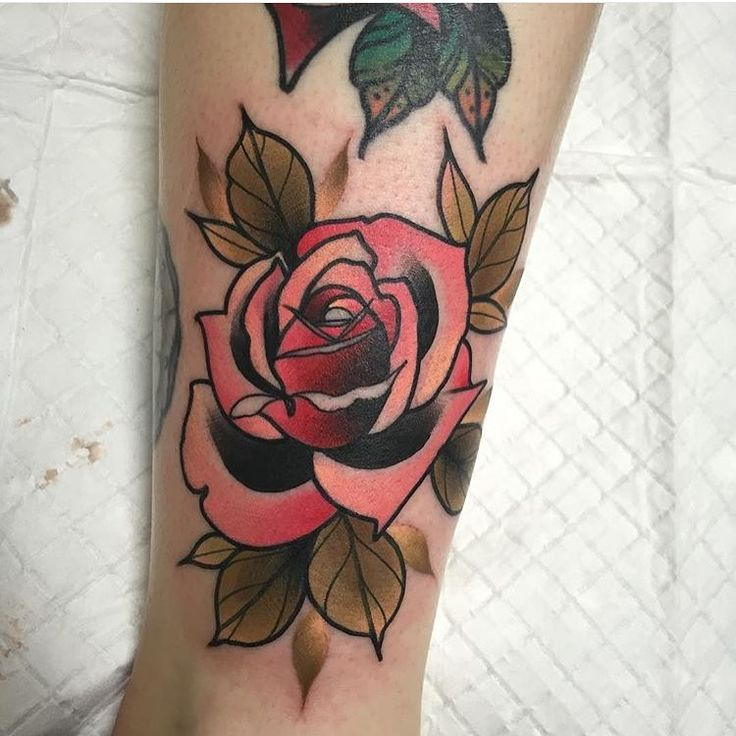 206 best tattoo images on pinterest tattoo ideas tattoo for Neo traditional rose tattoo