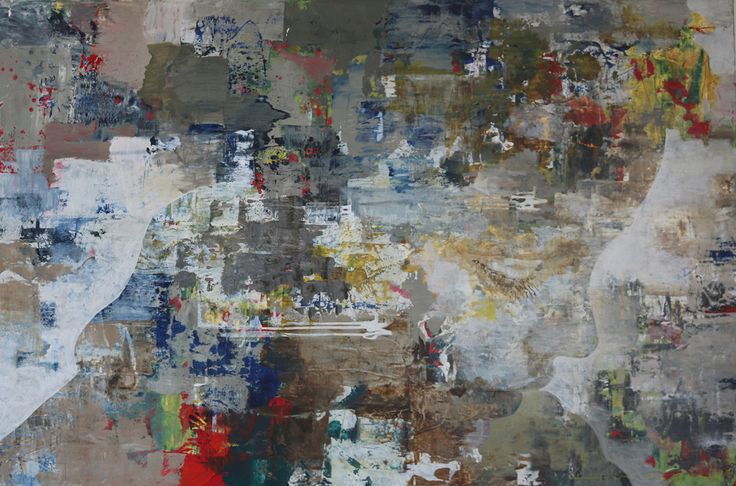 Edo Kaaij Atlantic Shore Oil and Mixed Media on Canvas 105 x 160 cm  #Oil #Painting #Faces