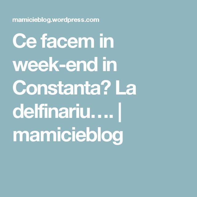 Ce facem in week-end in Constanta? La delfinariu…. | mamicieblog
