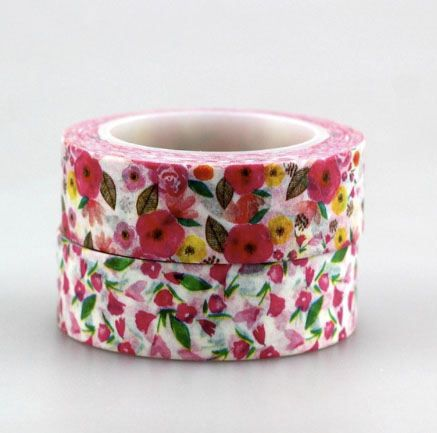 Pink floral washi tape by TaylorsworldHandmade on Etsy