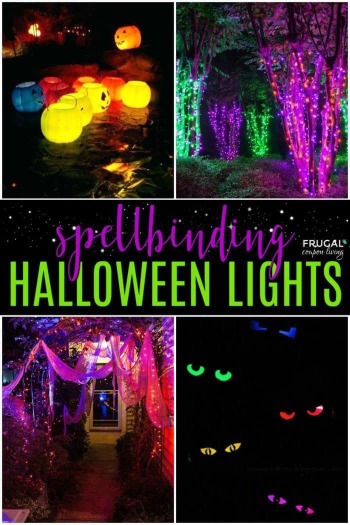 Spellbinding Halloween Lighting Ideas Halloween Lights Outdoor Halloween Halloween Outdoor Decorations