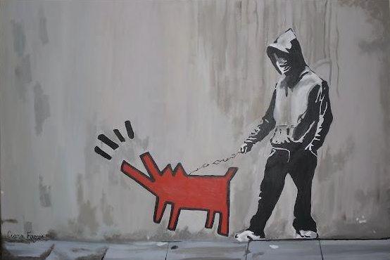 Painting. Graffiti. Art. Banksy. www.ciarafaganart.com