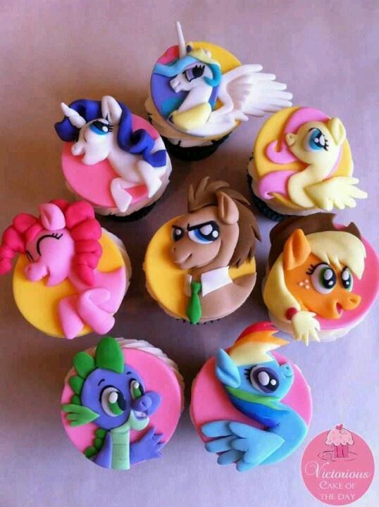 Gracie's My Little Pony Rainbow Birthday Bash:  My little pony cupcakes By zoey cakes