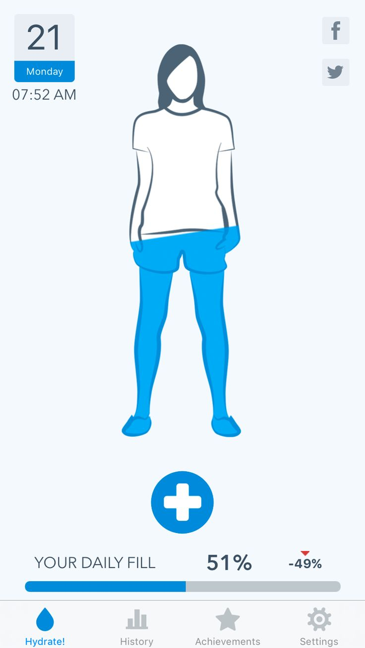 WaterMinder® - track your daily water intake, hydrate, feel better!