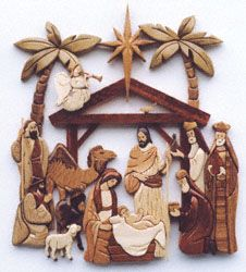 Free Intarsia Patterns | Scroll Saw Intarsia - Intarsia Nativity Scroll Saw Pattern