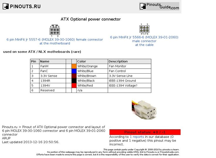Atx 6 Pin Wiring Diagram. 6 Pin Cable, 6 Pin Connector, 6 Pin Plug ...