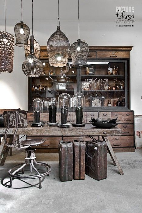 173 best raw materials store images on pinterest raw - Vintage industrial interior design ...