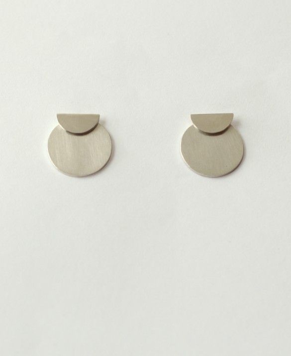 Half Circle/Circle silver earrings -it's all about a perfect balance between various sizes-