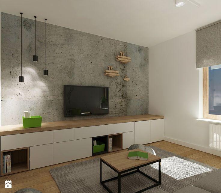 Średni salon, styl nowoczesny - zdjęcie od 4ma projekt
