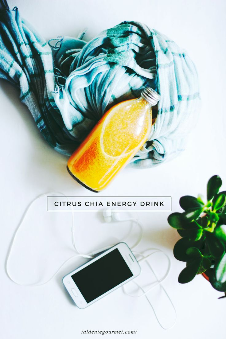 Citrus Chia Energy Drink   Free ''5 Step Guide to Quit Sugar'' (Increasing Energy Levels Naturally Without Caffeine or Sugar)
