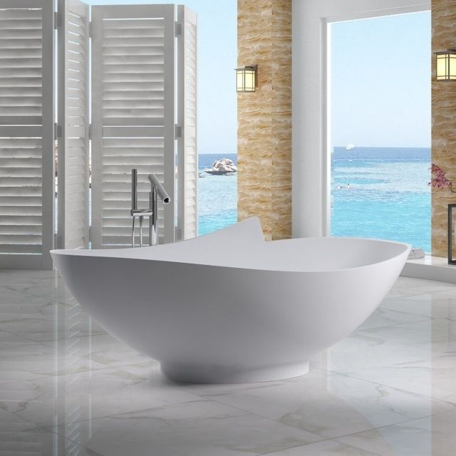 most comfortable freestanding tub. ADM Matte White Stand Alone Resin Bathtub contemporary bathtubs 141 best Bathroom images on Pinterest  Acrylic tube Bath ideas